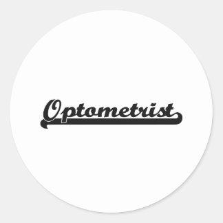 Optometrist Classic Job Design Classic Round Sticker