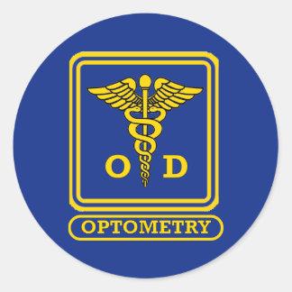 Optometrist Classic Round Sticker