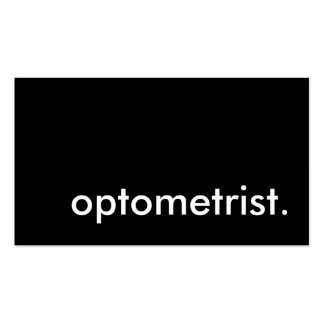 optometrist. (color customizable) Double-Sided standard business cards (Pack of 100)