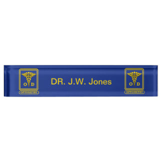 Optometrist Desk Nameplates