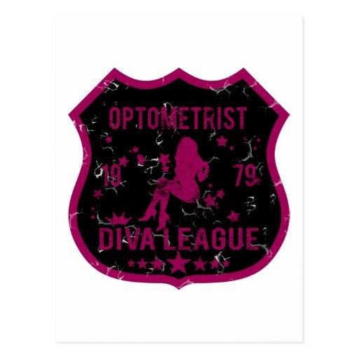 Optometrist Diva League Postcard
