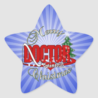 OPTOMETRIST DOCTOR MERRY CHRISTMAS STAR STICKER
