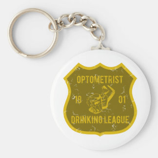 Optometrist Drinking League Basic Round Button Keychain