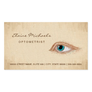 Optometrist Eye Appointment Classic Illustration Business Card