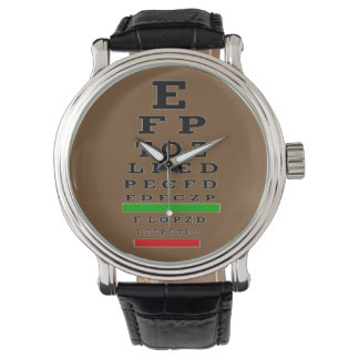 Optometrist Eye Chart Watch Black II