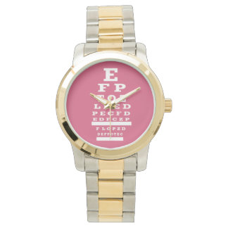 Optometrist Eye Chart Watch Pink