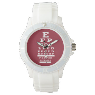 Optometrist Eye Chart Watch Red Face