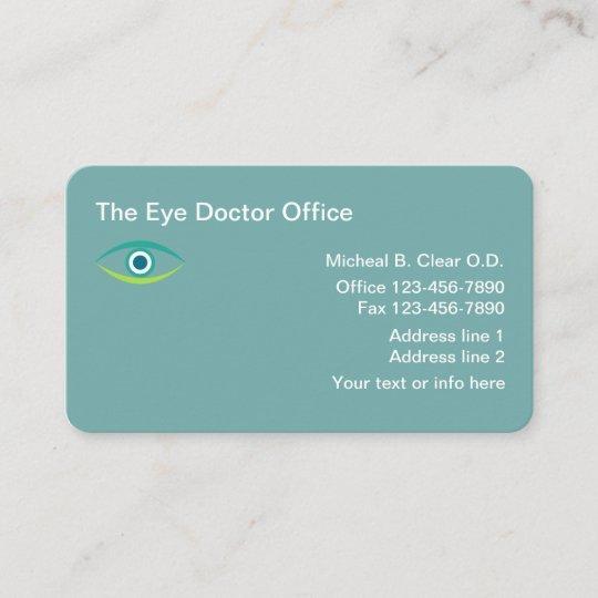 Optometrist eye doctor business card zazzle optometrist eye doctor business card colourmoves
