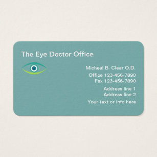 Optometry business cards templates zazzle optometrist eye doctor business card colourmoves