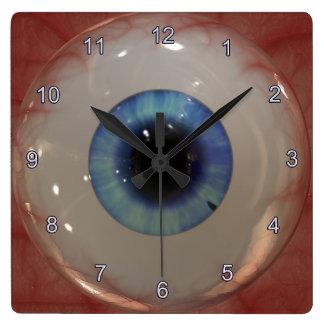 Optometrist Eye Doctor Spooky Fun Blue Eye Clock