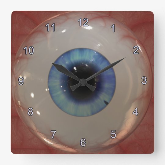 Optometrist Eye Doctor Spooky Fun Blue Eye Clock