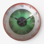 Optometrist Eye Doctor Spooky Fun Green Eye Clock