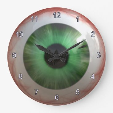 OnlineGifts Optometrist Eye Doctor Spooky Fun Green Eye Clock