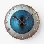 Optometrist Eye Doctor Weird Fun Blue Eye Clock