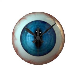 Optometrist Eye Doctor Weird Fun Blue Eye Clock