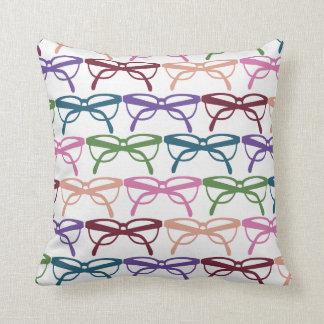 Optometrist Eye Glasses Pattern Print Throw Pillows