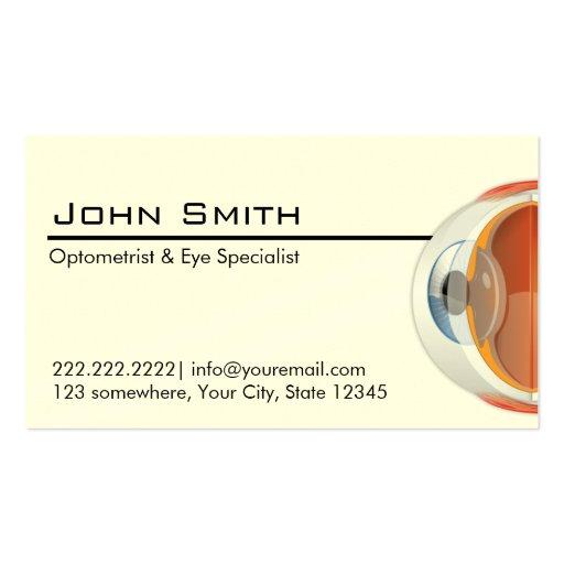 Optometrist eye specialist business card zazzle for Optometrist business card