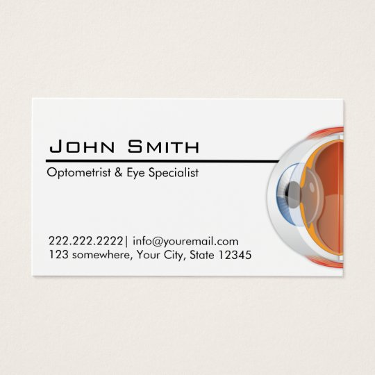Optometrist eye specialist professional business card zazzle optometrist eye specialist professional business card colourmoves
