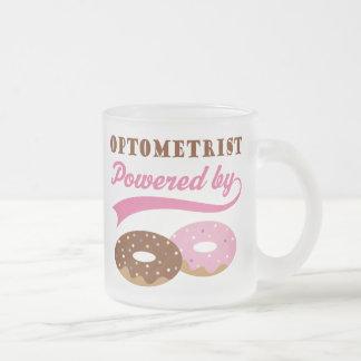 Optometrist Gift (Donuts) Frosted Glass Coffee Mug