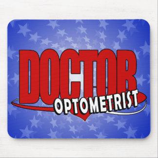 OPTOMETRIST LOGO DOCTOR BIG RED MOUSE PAD