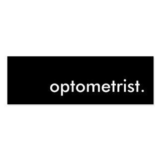optometrist. mini business card