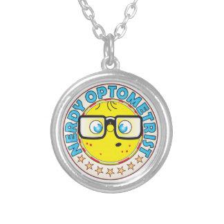 Optometrist Nerdy Round Pendant Necklace