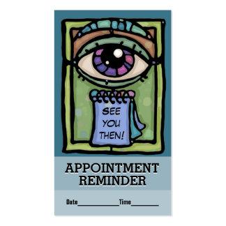 Optometrist.Ophthalmologist.Eye Doctor.Reminder Business Card