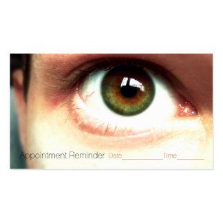 Optometrist.Ophthalmologist.Eye exam.Appointment Business Card Templates