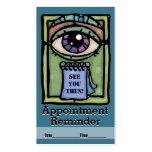 Optometrist.Ophthalmologists.Eye exam.Appointment Business Card Template