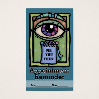 Optometrist.Ophthalmologists.Eye exam.Appointment Business Card