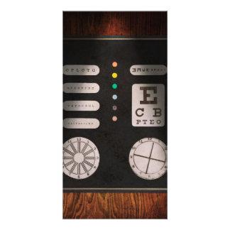 Optometrist - Optical Confusion Custom Photo Card