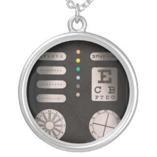 Optometrist - Optical Confusion Round Pendant Necklace