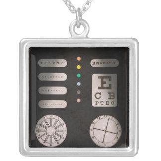 Optometrist - Optical Confusion Square Pendant Necklace
