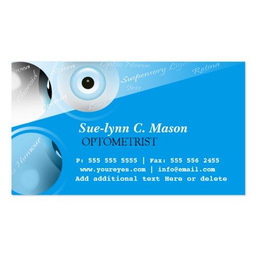 Optometrist optometry eyes business card zazzle for Optometrist business card