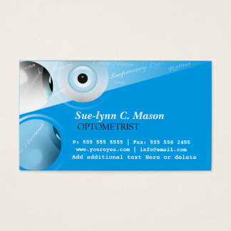 Optometric care business cards templates zazzle optometrist optometry eyes business card colourmoves Images