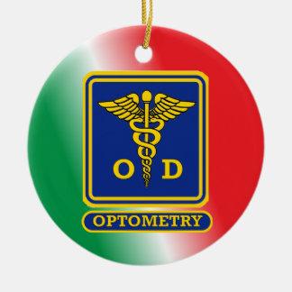 Optometrist Shield Custom Ceramic Ornament
