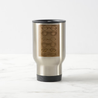 Optometrist - Simple gold frames 15 Oz Stainless Steel Travel Mug