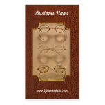 Optometrist - Simple gold frames Double-Sided Standard Business Cards (Pack Of 100)
