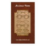 Optometrist - Simple gold frames Business Cards