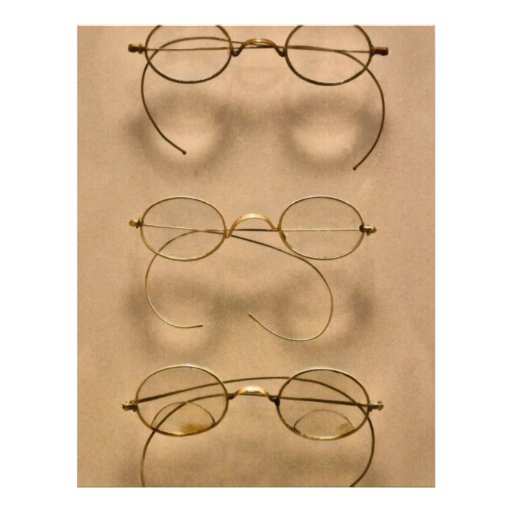 Optometrist - Simple gold frames Personalized Flyer