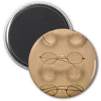 Optometrist - Simple gold frames Fridge Magnet