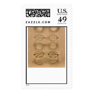 Optometrist - Simple gold frames Postage Stamps