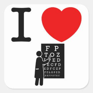 Optometrist Square Sticker