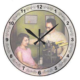 Optometrist - The eye exam 1929 Large Clock