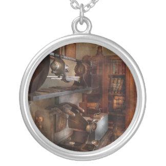Optometrist - The lens apparatus Round Pendant Necklace