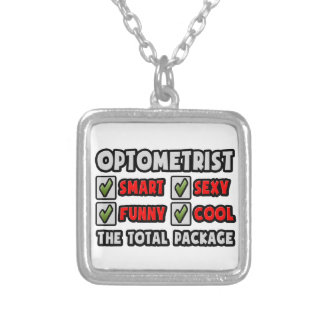Optometrist ... The Total Package Square Pendant Necklace