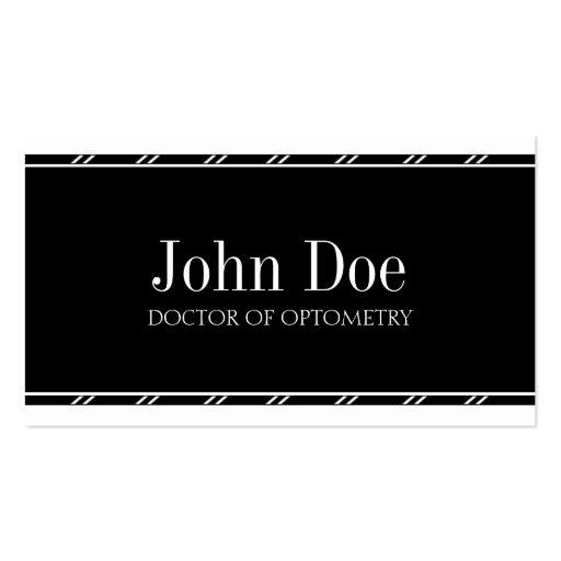 Optometrist W/W Business Card