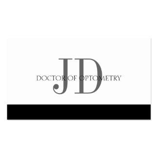 Optometrist White/White Business Card Template
