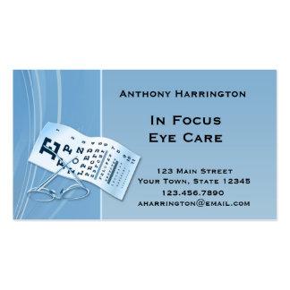 Optometrista azul moderno tarjeta de visita