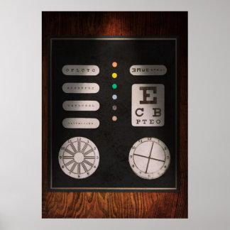 Optometrista - confusión óptica posters